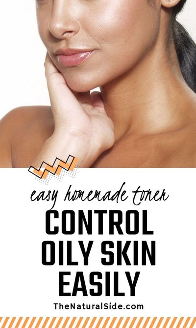 Searching for oily skin remedy? Stop oily skin with this Homemade Toner which is perfect to skin care for oily skin. Oily skin care via thenaturalside.com #skincare #oilyskin #beauty