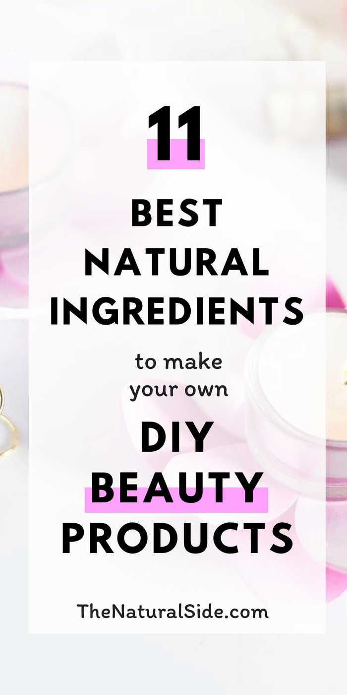 Ditch Chemical-Based Products and Save Money with Your Own Homemade Products. Start with These 11 Essential Natural Skin Care Ingredients. via thenaturalside.com #diybeauty #skincare #beauty