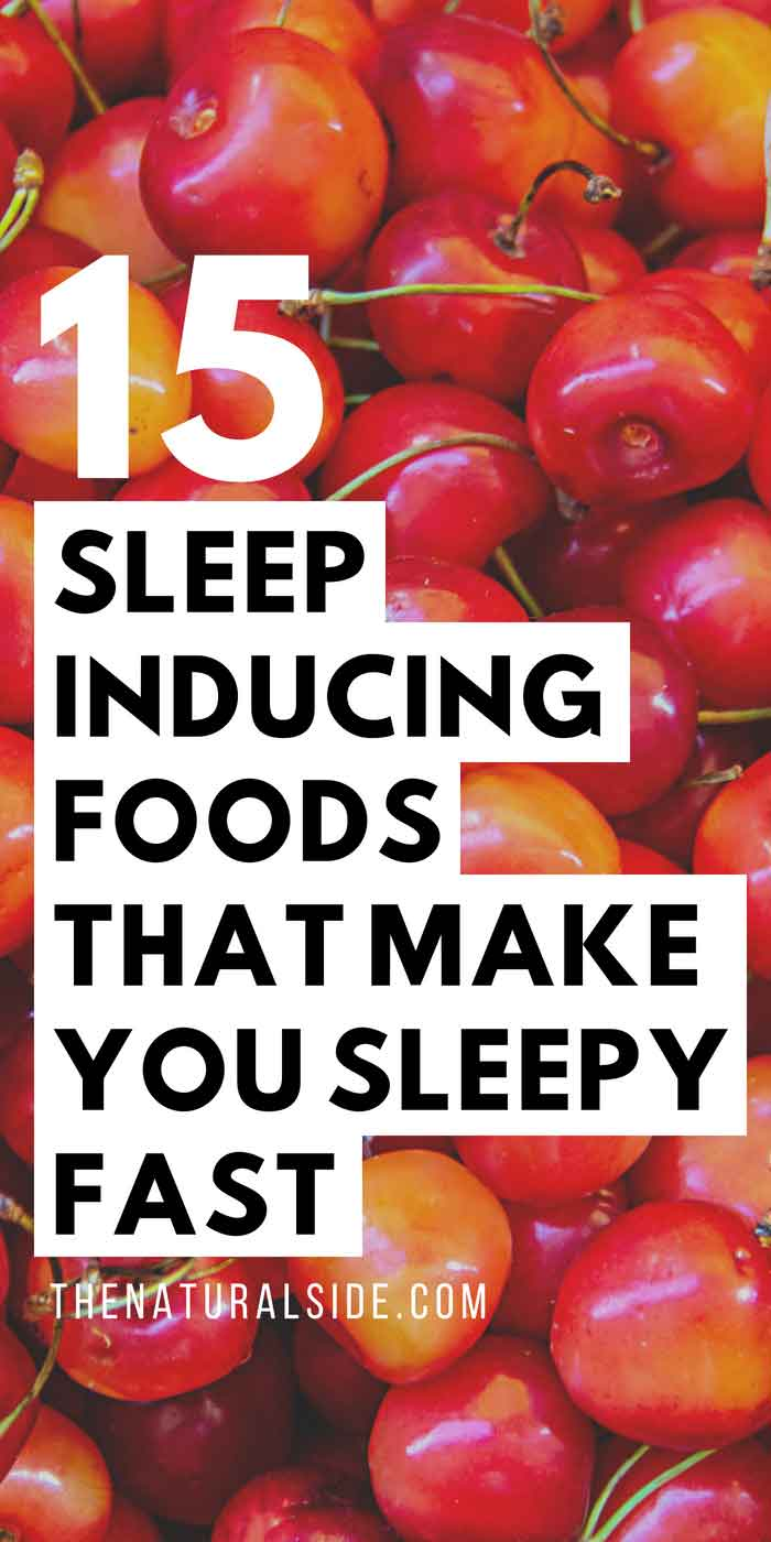 Missing Quality Sleep? Have a look at these 15 Sleep inducing foods that make you sleepy in miutes. via thenaturalside.com #superfoods #sleep #healthyeating