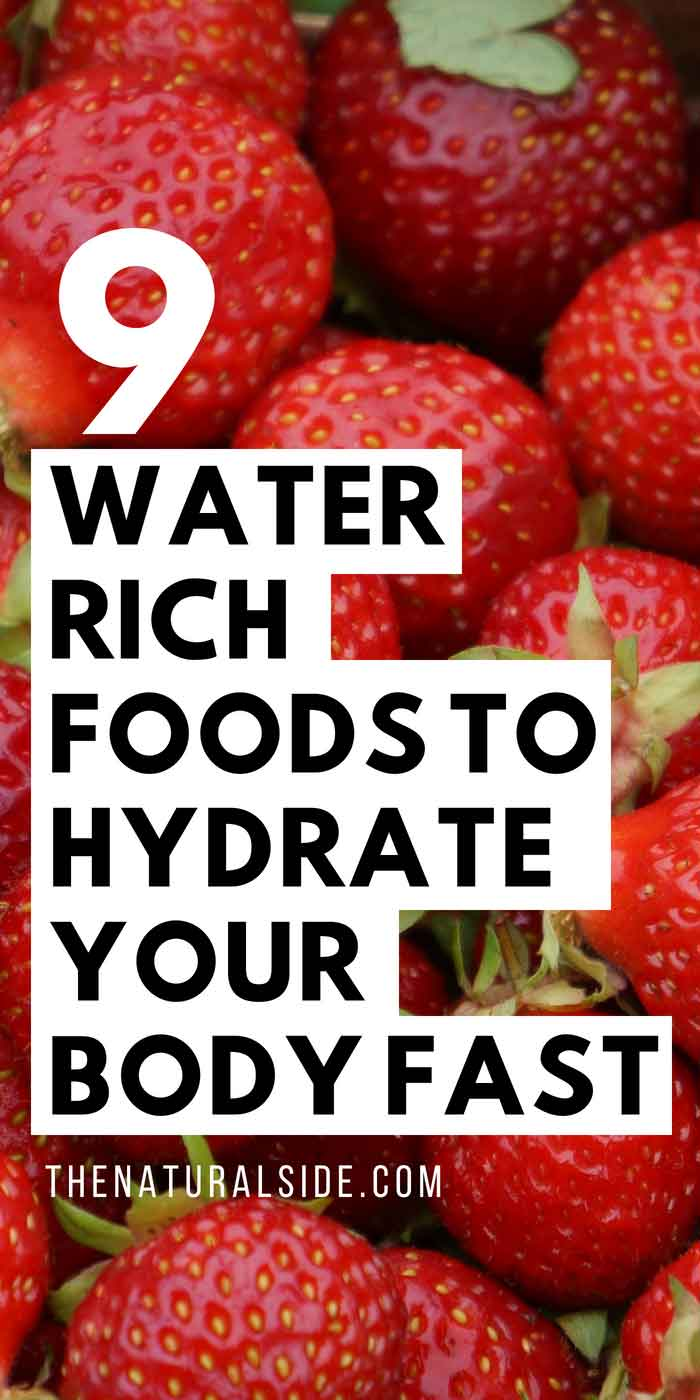 Feeling Thristy? Have a look to these 9 Water Rich Foods that Hydrate Your Body super fast. #superfoods #hydrate #waterrich #healthyeating #healthyfood