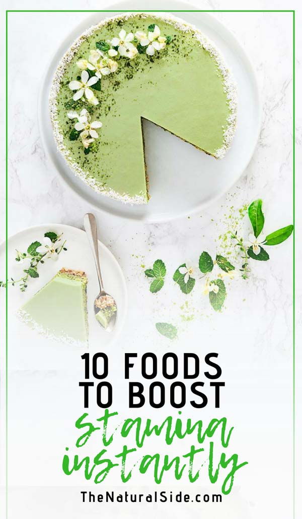 Recharge your body's battery! Here are 10 Foods that will boost your Stamina Fast. via thenaturalside.com #superfoods #healthyeating #stamina #boostenergy
