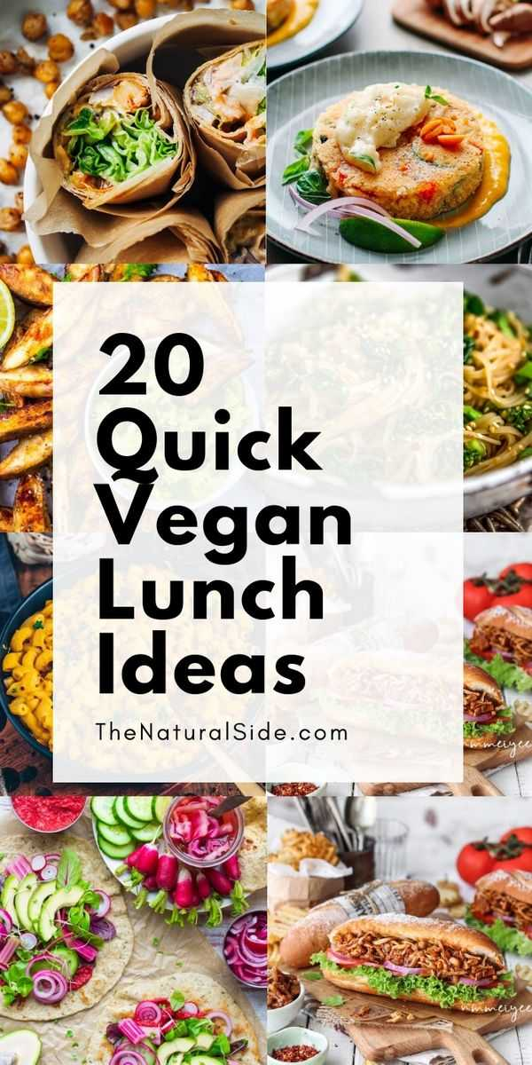 Looking for some healthy and easy vegan lunch ideas? We got your back! Check out these 20 Quick Vegan Lunch Recipes that are Perfect for Meal Prep.