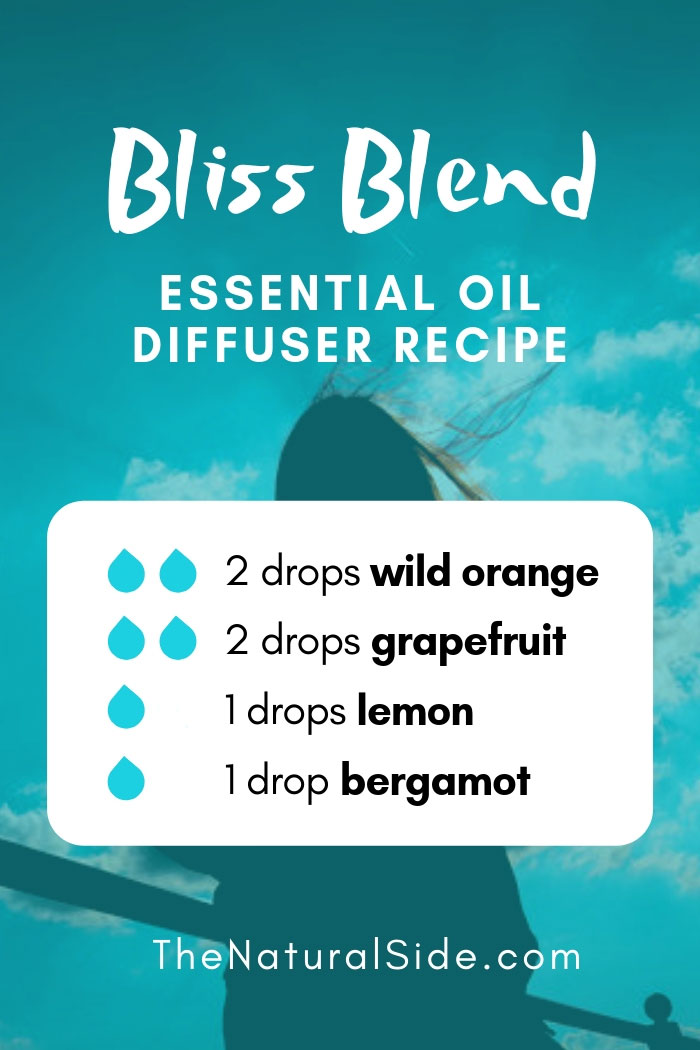 New to Essential Oils? Searching for Simple Essential Oil Combinations for Diffuser? Check out these 21 Easy Essential Oil Blends and Essential Oil Recipes Perfect for Beginners. #essentialoil #diffuser #sleep Bliss Blend 2 drops wild orange + 2 drops grapefruit + 1 drop lemon + 1 drop bergamot