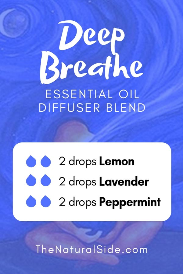 New to Essential Oils? Searching for Simple Essential Oil Combinations for Diffuser? Check out these 21 Easy Essential Oil Blends and Essential Oil Recipes Perfect for Beginners. #essentialoil #diffuser #breathe Deep Breathe Blend 2 drops lemon + 2 drops lavender + 2 drops peppermint