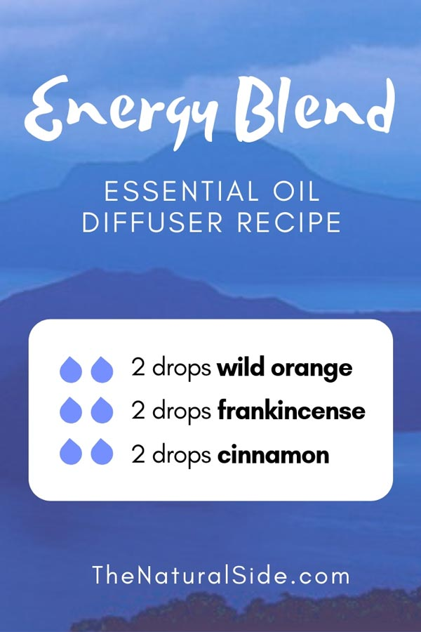 New to Essential Oils? Searching for Simple Essential Oil Combinations for Diffuser? Check out these 21 Easy Essential Oil Blends and Essential Oil Recipes Perfect for Beginners. #essentialoil #diffuser #immune Energy Blend 2 drops wild orange + 2 drops frankincense + 2 drops cinnamon