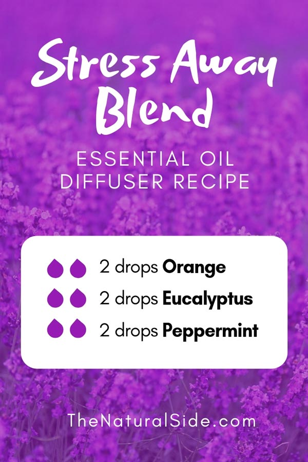 New to Essential Oils? Searching for Simple Essential Oil Combinations for Diffuser? Check out these 21 Easy Essential Oil Blends and Essential Oil Recipes Perfect for Beginners. #essentialoil #diffuser #headache Stress Away Blend 2 drops Orange + 2 drops Eucalyptus + 2 drops peppermint