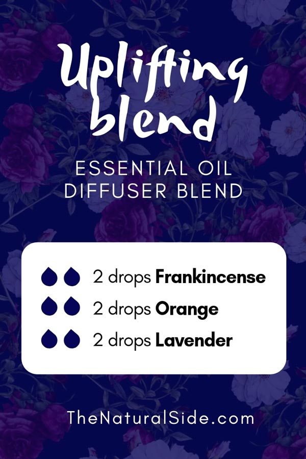 New to Essential Oils? Searching for Simple Essential Oil Combinations for Diffuser? Check out these 21 Easy Essential Oil Blends and Essential Oil Recipes Perfect for Beginners. #essentialoil #diffuser #headache Uplifting Blend 2 drops Frankincense + 2 drops Orange + 2 drops Lavender