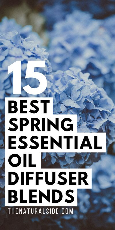 Spring is a good time to renew your health and wellness goals. Enjoy these 15 Best Spring Essential Oil Diffuser Blends. Essential Oil Recipes via thenaturalside.com #wellness #essentialoils