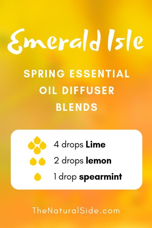 Emerald-Isle - Spring Essential Oil Diffuser Blends via spring #essentialoils #blends #lemon