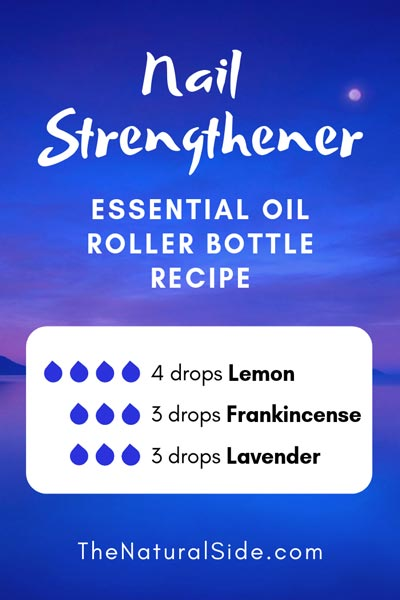 Nail Strengthener | 4 drops Lemon + 3 drops Frankincense + 3 drops Lavender | 15 Best Essential Oil Roller Bottle Recipes for Beginners