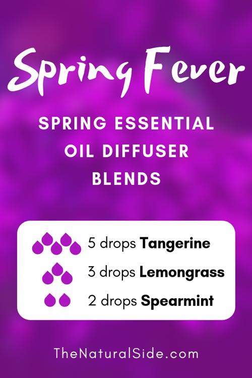 Spring Fever - Spring Essential Diffuser Blends via thenaturalside.com #spring #essentialoils #naturalremedies #homeremedies