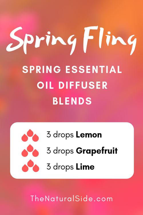 Spring Fling - Spring Essential Oil Diffuser Blends | Essential Oils via thenaturalside.com #essentialoils #spring #blends