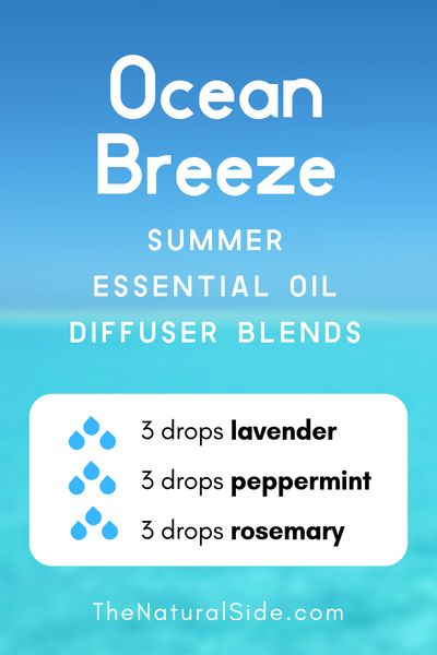 Ocean Breeze - Summer Essential Oil Diffuser Blends | 21+ Summer essential oil diffuser recipes blends via thenaturalside.com #essentialoils #summer #diffuser #blends