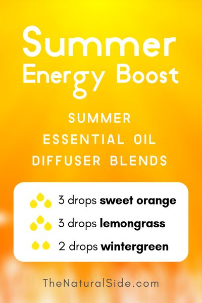 Summer Energy Boost - Summer Essential Oil Diffuser Blends | 21+ Summer essential oil diffuser recipes blends via thenaturalside.com #essentialoils #summer #diffuser #blends