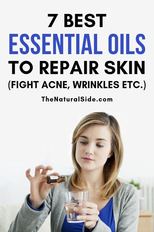 Are you ready to keep your skin gorgeous and healthy. Fight Acne, Wrinkles, blackheads with these 5 best essential oils for skin repair. Natural Remedies via thenaturalside.com #skin #essentialoils #naturalremedies