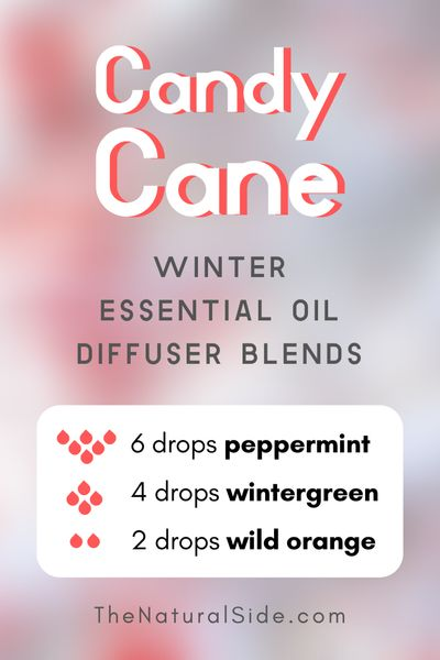 Candy Cane - Winter Essential Oil Diffuser Blends | Essential Oils via thenaturalside.com #essentialoils #winter #diffuser