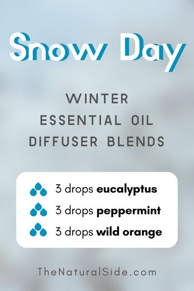 Snow Day - Winter Essential Oil Diffuser Blends | Essential Oils via thenaturalside.com #essentialoils #winter #diffuser