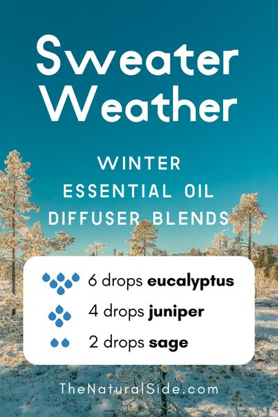 Sweater Weather - Winter Essential Oil Diffuser Blends | Essential Oils via thenaturalside.com #essentialoils #winter #diffuser