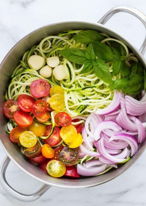One Pot Zucchini Pasta - vegetarian keto recipes